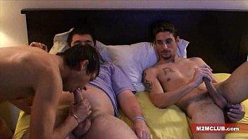 Gay gangbang 5 min