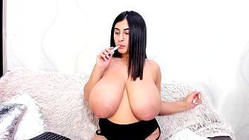 Amazing huge tit girl having fun on cam 2