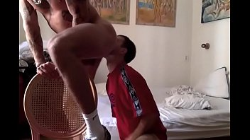 Gay fuck end to end - Twink slut ready for bareback and big cumshot