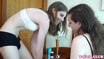 Stockinged tgirl assfucking in twosome