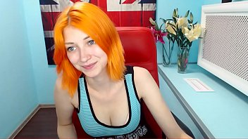 cute orange haired dutch teen cam play - part 1