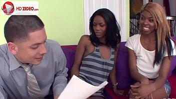Black sisters enjoying his white dickJayden Hart HD Porn