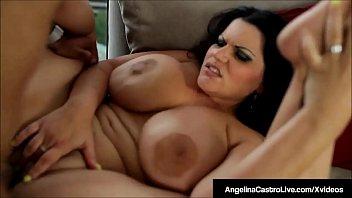Massive Boobed BBW Angelina Castro Fucked By A Big Hard Cock porno izle