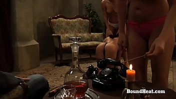 Slave chains punishment femdom Disappeared on arrival 2: bound lesbian slave in chains punished and dominated