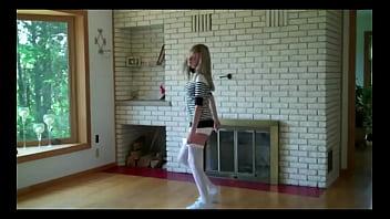Dance girl strips...