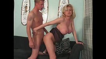 Busty blonde Carolyn Monroe is giving head to the college boy next door