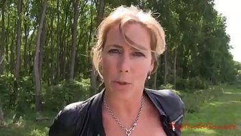 Young guy fucks an adult lady with beautiful boobs right in the forest 12 min