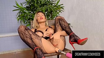 """Hot Blonde Tgirl Dani Peterson Gets Drilled by Dildo and Machine <span class=""""duration"""">8 min</span>"""