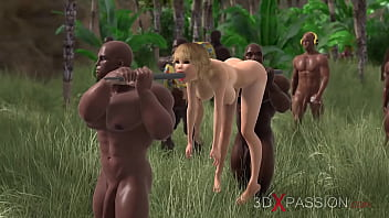 Hot sex on island Tribe. who becomes the next victim http://3dxpassion.com