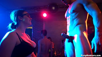 Holy Grail Event - Amateur whore Andrea (Andy) gets spitroasted & takes 2 loads to the face in PHGC 36 - Cam 1