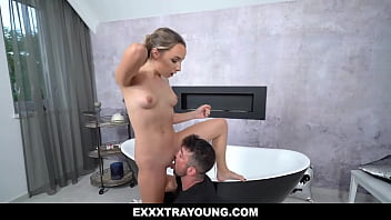 Petite gardener Mona Blue suddenly fainted due to hard work, Maximo kindly helped her. Maximo who has a crush on her decides to persuade her sexually.