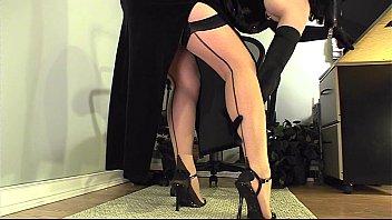 Legs stockings nylons amateur home video Leg tease
