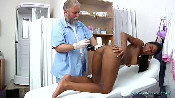 Doctor examing pussy Isabelle gyno exam