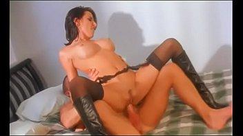 Nylon on a cock - Brunette beauty lezley zen gets jizz blown on her waist after taking a hard cock