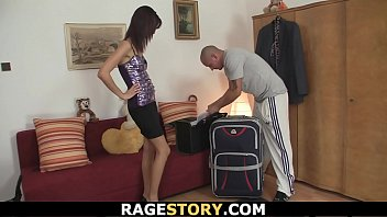 Brunette takes b. blowjob and rough fucking