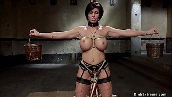 Huge tits Milf slave is disciplined