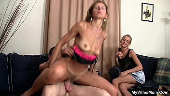 She sees her man fucking mother in law