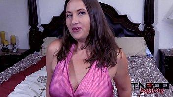 Horny MILF Sucking Stepsons Cock While Masturbating