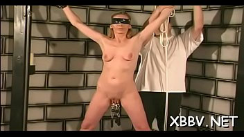 Bound tortured breasts Amateur woman with large tits, complete breast xxx act