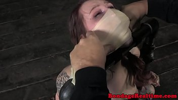 BDSM sub Mollie Rose breath play