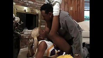 Black guy fucks hot blonde ebony cheerleader
