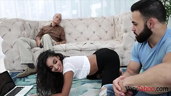 DADDY sleeps, DAUGHTER and SON fuck