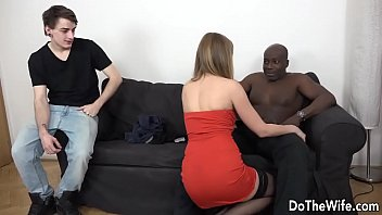 Horny Housewife Luca Bella Takes a Black Cock Up Her Ass as Hubby Watches preview image
