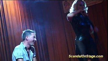 lapdance on public show stage
