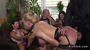 Isabella camile bondage Huge tits slave gets anal in public