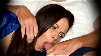 Stepmom forced to suck - Mom forced to blowjob when sleeping on couch