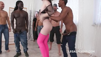 Black cum trailers - 10on1 double anal creampie gangbang with lydia black