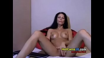 Gorgeous Hungarian MILF Rubs Her Pussy Lips Fiercely