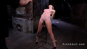 Placed On Metal  Bar Slave Whipped ped