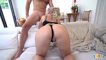 YNGR - Petite Blonde Harley King Taken Home For Rough Sex