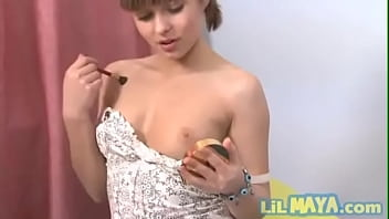 Lil May has small and perky titties and loves to show them off
