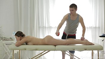 ANAL MASSAGE SCENE WITH CUTE OILED UP TEEN ON HIS TABLE 27 min