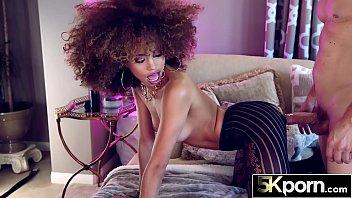 5KPORN - Sexy Ebony Babe Cecilia Lion Facialed