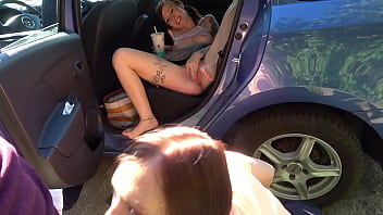 Naked DriveIn Challenge Ends With Outdoor Fuck