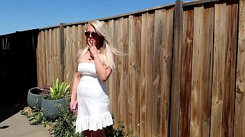 Matching sexy robes - Preview blonde outdoors chain smoking cigarettes sunglasses dress smoking fetish