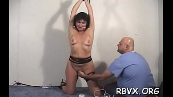 Porn in armchair pussy Older slut gets teased while being fastened to armchair