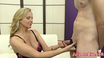 Milf Julia Ann Teases Slave with her Feet! Preview