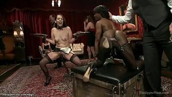 Anal petition of ebony at bdsm party