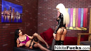 Nikita and Jewel Jade fuck each other with a strap-on
