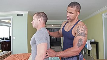 GAYWIRE - Muscle Hunk Robert Axel Gives Drew Daine A Massage And Fucks Him, Hard