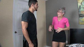 Horny Granny Sucks A Young Dick thumbnail