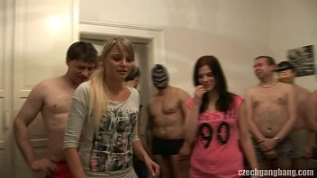 GIRLFRIEND AND HER SISTER GET FUCKED AT CZECH GANG BANG thumbnail