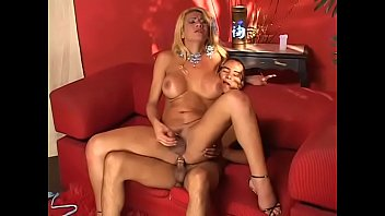Tranny seduced Horny shemale in sexy lingerie masturbates to seduce this handsome dude