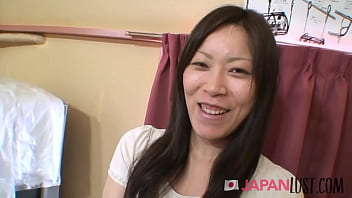 Sexy Japanese MILF Squirts From POV Toys And Cock