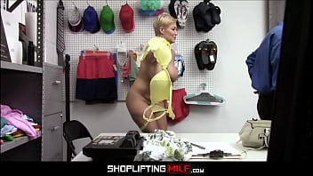 Blonde Big Tits MILF Shoplifter Ryan Keely Anal Fucked To Multiple Orgasms By Officer