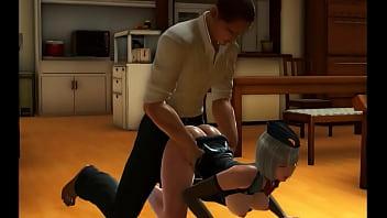 Pretty gambling guard man in hotel hentai act...